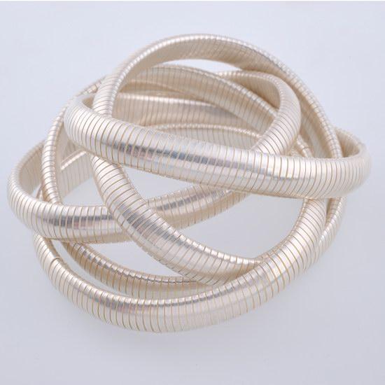 Bracelet argenté blanc