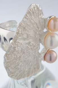 bague perle coquillage