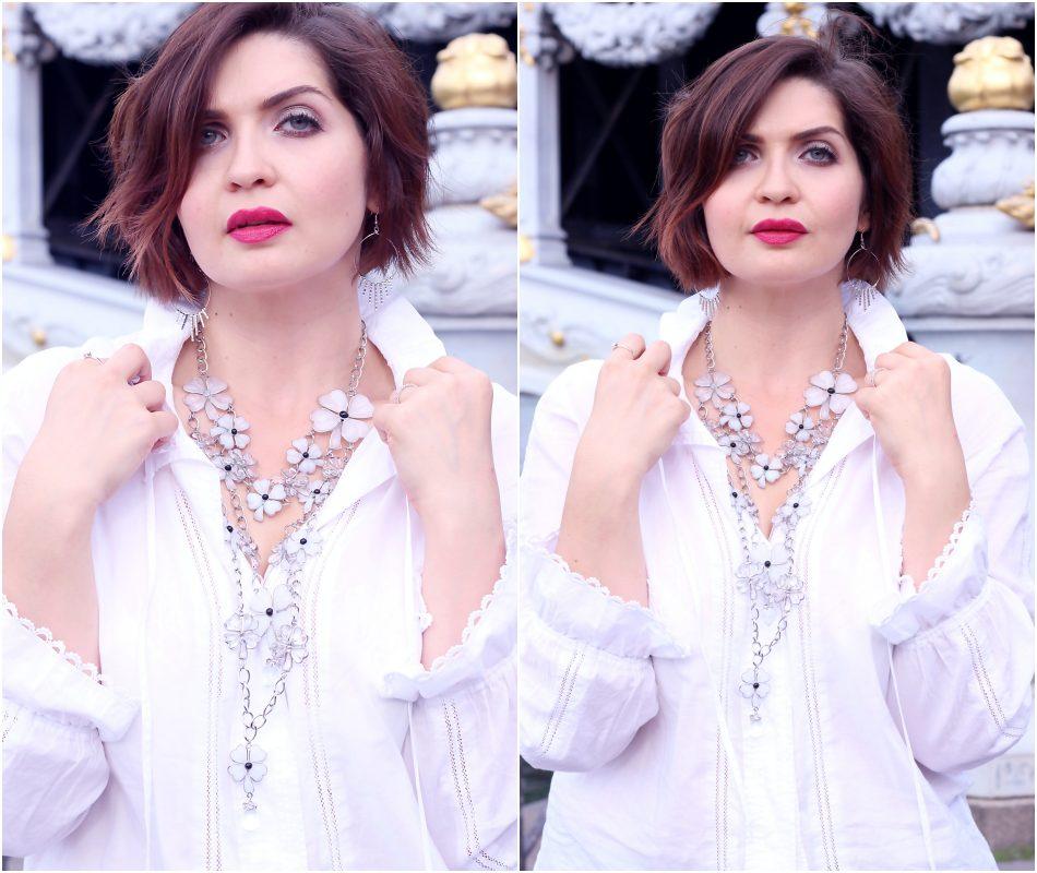 Multi row necklace